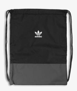 ADIDAS ORIGINALS TREFOIL ZIPPED DRAWSTRING GYMSACK BACKPACK