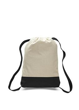 Pack of 12-12 oz Cotton Canvas Two Tone Sports Backpack with
