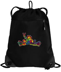 Peace Frog Drawstring Bag Peace Frogs Cinch Pack Backpack UN
