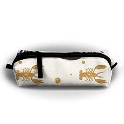 Jliming Pencil Bag Pen Case Crayfish Cosmetic Pouch Students