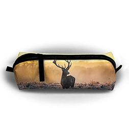 Jliming Pencil Bag Pen Case Wild Deer Cosmetic Pouch Student