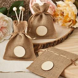 Perfectly Plain Collection Burlap Treat Bags : package of 18