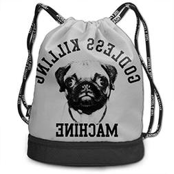 Airealy Pug Godless Killing Machine Outdoor Bundle Backpack