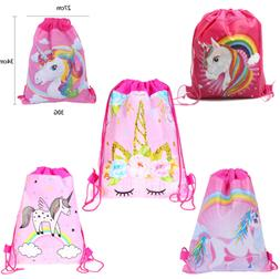 RAINBOW UNICORN SCHOOL DRAWSTRING BAG PE GYM SWIM KIT NURSER
