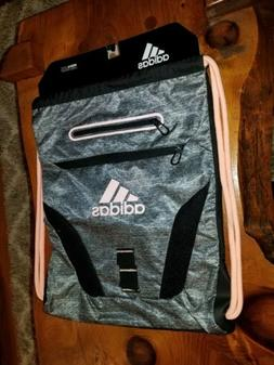 Adidas Rumble Sackpack Jersey Onix Haze Coral/Black Bag NEW