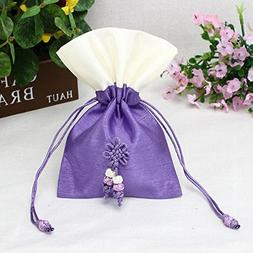 TooGet Sachet Gift Bags Empty Bags Ice Silk Fabric Bags Draw