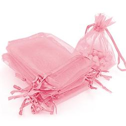 "AKStore 100Pcs 2.8""x3.6""Sheer Drawstring Organza Jewelry Pou"