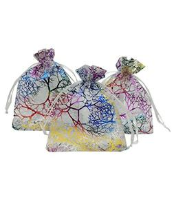 Ankirol 100pcs Sheer Organza Favor Bags 3x4'' Jewelry Candy