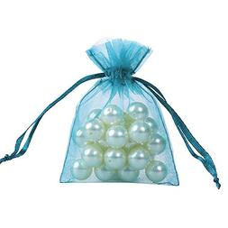Ling's moment 3x4 Inch Sheer Organza Gift Candy Bags
