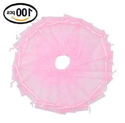 Wuligirl 100pcs Sheer Pink Organza Bags with Drawstring 5''