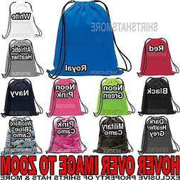 SWEATSHIRT MATERIAL Drawstring Bag Cinch Sack Gym Tote Locke