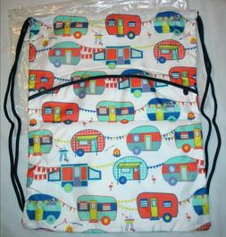 THIRTY-ONE Gifts HAPPY CAMPERS CINCH SAC Drawstring Backpack