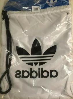 adidas Originals Trefoil Sackpack, White/Black, One Size