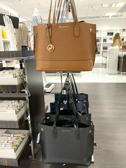 Michael Kors TRISTA Large Drawstring Tote Leather Bag with P