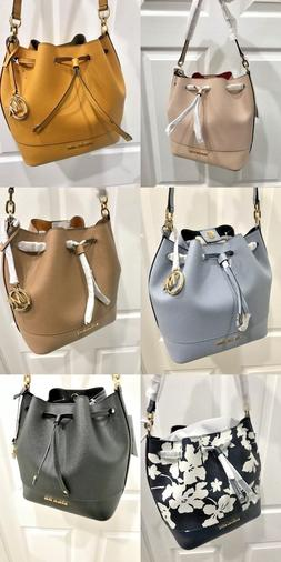 Michael Kors Trista Medium Drawstring Bucket Bag in Various