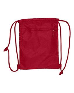 Liberty Bags Ultra Performance Drawstring Backpack, Red, One