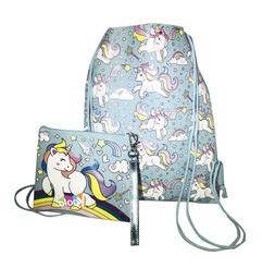 Unicorn Drawstring Backpack Girls Princess Swim Kids Sling P