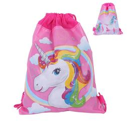Unicorn Drawstring Backpack Girls Princess Swim Kids Shoes P