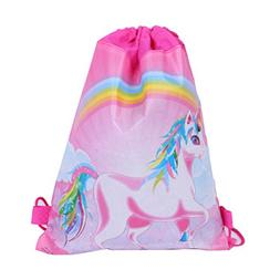 BraveWind 1 Pack Unicorn Drawstring Bags Party Favors Gift B