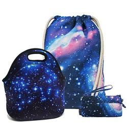 Artone Universe Galaxy Drawstring Backpack Lunch Bag Pencil