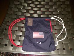 Nike USA Olympics Backpack Gym Bag Sack Drawstring Red White