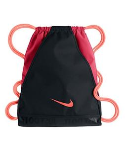New Nike Varsity Gymsack DS Bag Black/Fusion Red/Atomic Pink