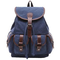 Artone Vintage Canvas Flap Over Drawstring Casual Backpack 1
