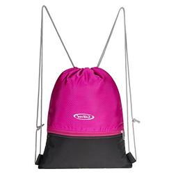 G4Free Gymbag Large Drawstring Backpack String Bag Sports At