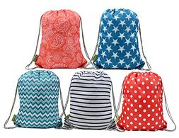 BeeGreen Water Resistant Ripstop Polyester Drawstring Backpa