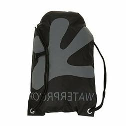 geckobrands Waterproof Drawstring Backpack- Black/Grey
