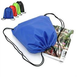 Waterproof Drawstring Backpack Storage Bags Solid Sports Tra