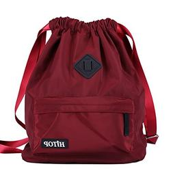 HITOP String Backpack, Waterproof Drawstring Cinch Backpack,