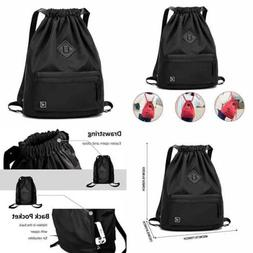 Waterproof Drawstring Bag Gym Sackpack Sports Backpack For M