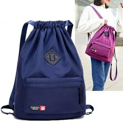Waterproof Drawstring Gym Bag Sackpack Sports Backpack Sport