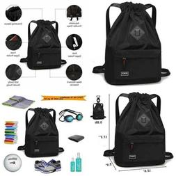 Peicees Waterproof Drawstring Sport Bag Lightweight Sackpack